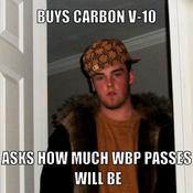 Buys carbon v 10 asks how much wbp passes will be 9241ab