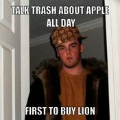 Talk trash about apple all day first to buy lion 81dbf7