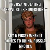 The usa violating the world s sovereignty but a pussy when it comes to china russia nkorea 18d997