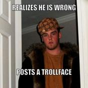 Realizes he is wrong posts a trollface 93f9d1