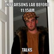 In pearsons lab before 11 15am talks 5d28ea
