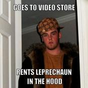 Goes to video store rents leprechaun in the hood f595ac