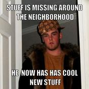 Stuff is missing around the neighborhood he now has has cool new stuff 54802d