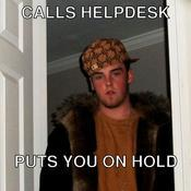 Calls helpdesk puts you on hold 3f3ebc