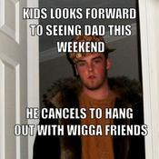 Kids looks forward to seeing dad this weekend he cancels to hang out with wigga friends bdbe0f