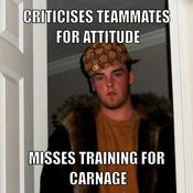 Criticises teammates for attitude misses training for carnage 74c7d7