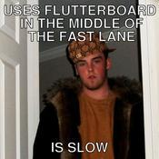 Uses flutterboard in the middle of the fast lane is slow acdc59