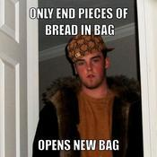 Only end pieces of bread in bag opens new bag 8ba625