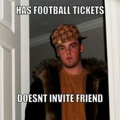 Has football tickets doesnt invite friend 389e05