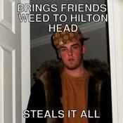 Brings friends weed to hilton head steals it all d3457a