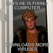 Says he is fixing computer downloads more viruses 504ca6