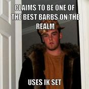 Claims to be one of the best barbs on the realm uses ik set c3a0a2