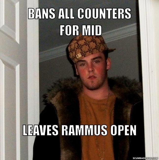 Bans all counters for mid leaves rammus open 7d7e12