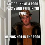 Got drunk at a pool party and peed in the pool he was not in the pool 800632