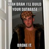 Yeah brah i ll build your database broke it