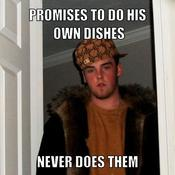 Promises to do his own dishes never does them ab140a