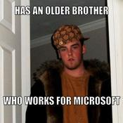 Has an older brother who works for microsoft 808be8