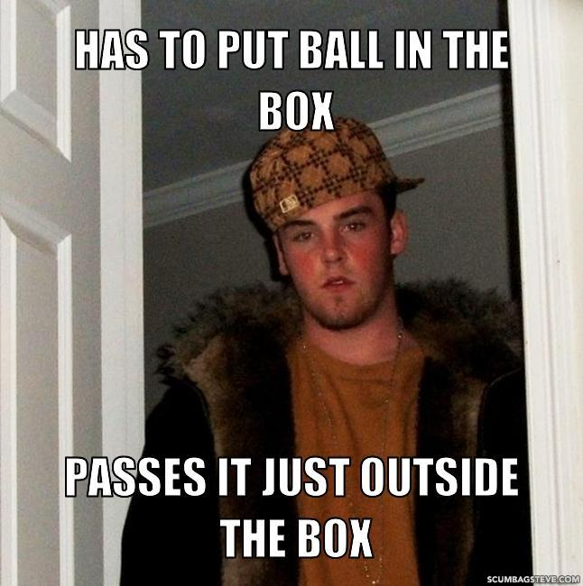 Has to put ball in the box passes it just outside the box b4692c