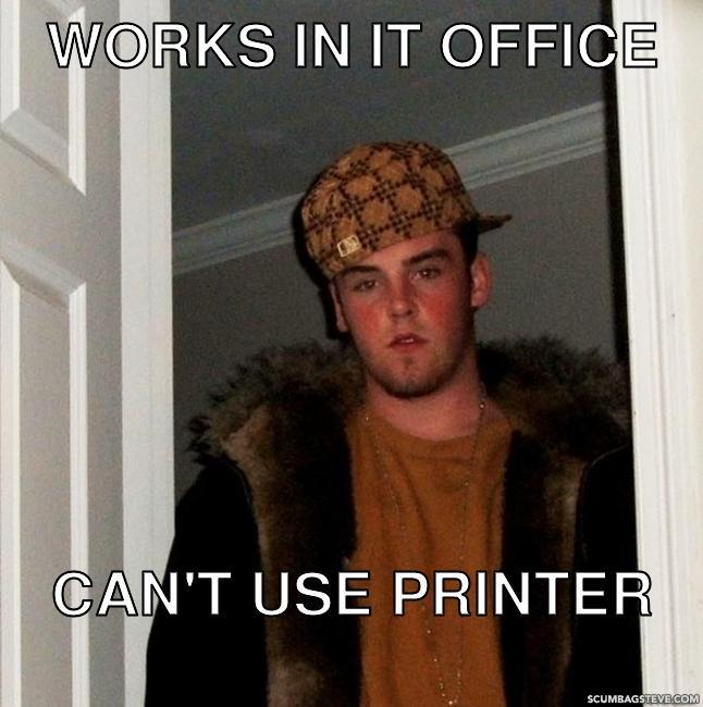 Works in it office can t use printer b2f2f7