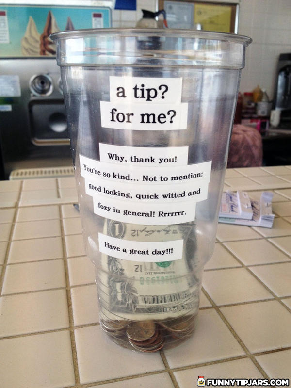 photograph regarding Printable Tip Jar Signs referred to as Amusing Suggestion Jars - Humourous Tipjars In opposition to The Assistance Industy