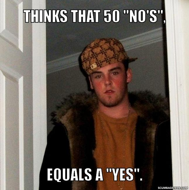 Thinks that 50 no s equals a yes 61c4ce