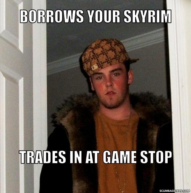Borrows your skyrim trades in at game stop a676bc