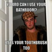 Yo bro can i use your bathroom uses your toothbrush too cb536d
