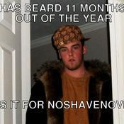 Has beard 11 months out of the year shaves it for noshavenovember 52e661