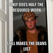 Only does half the required work still makes the deans list ae010f