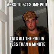 Asks to eat some poo eats all the poo in less than a minute 4f0a22