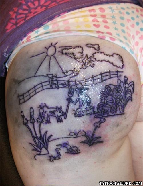 Pics of funny tattoos tattoo failure for Penis and vagina tattoos
