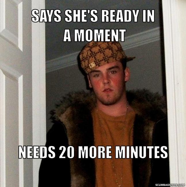 Says she s ready in a moment needs 20 more minutes db4c0e