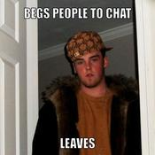 Begs people to chat leaves eba5d7