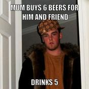 Mum buys 6 beers for him and friend drinks 5 277392