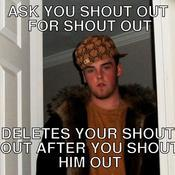 Ask you shout out for shout out deletes your shout out after you shout him out c83143