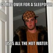 Comes over for a sleepover uses all the hot water d02ff2