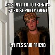 Gets invited to friend s suprise party event invites said friend 9ffaee