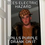 Sees electric hazard spills purple drank on it bfbee7