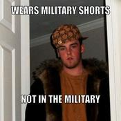 Wears military shorts not in the military c13d4b