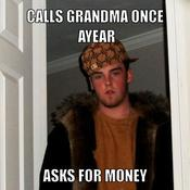 Calls grandma once ayear asks for money e67a50