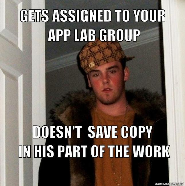Gets assigned to your app lab group doesn t save copy in his part of the work d41d8c