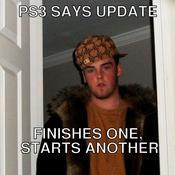 Ps3 says update finishes one starts another b5c1c0