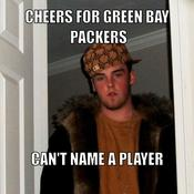 Cheers for green bay packers can t name a player