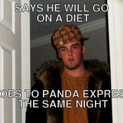 Says he will go on a diet goes to panda express the same night 688144