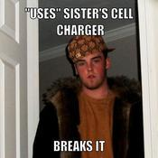 Uses sister s cell charger breaks it e07a88