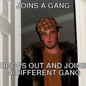 Joins a gang drops out and joins a different gang 7f9825