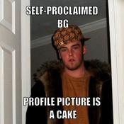 Self proclaimed bg profile picture is a cake d41d8c