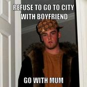 Refuse to go to city with boyfriend go with mum 9e2a1b