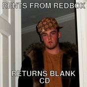 Rents from redbox returns blank cd 296a62