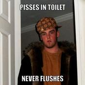 Pisses in toilet never flushes 9ad28b